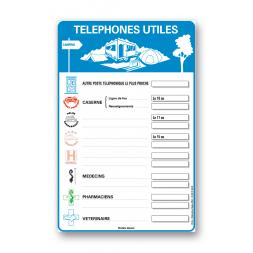 "Consigne plein air ""consigne téléphones utiles"""