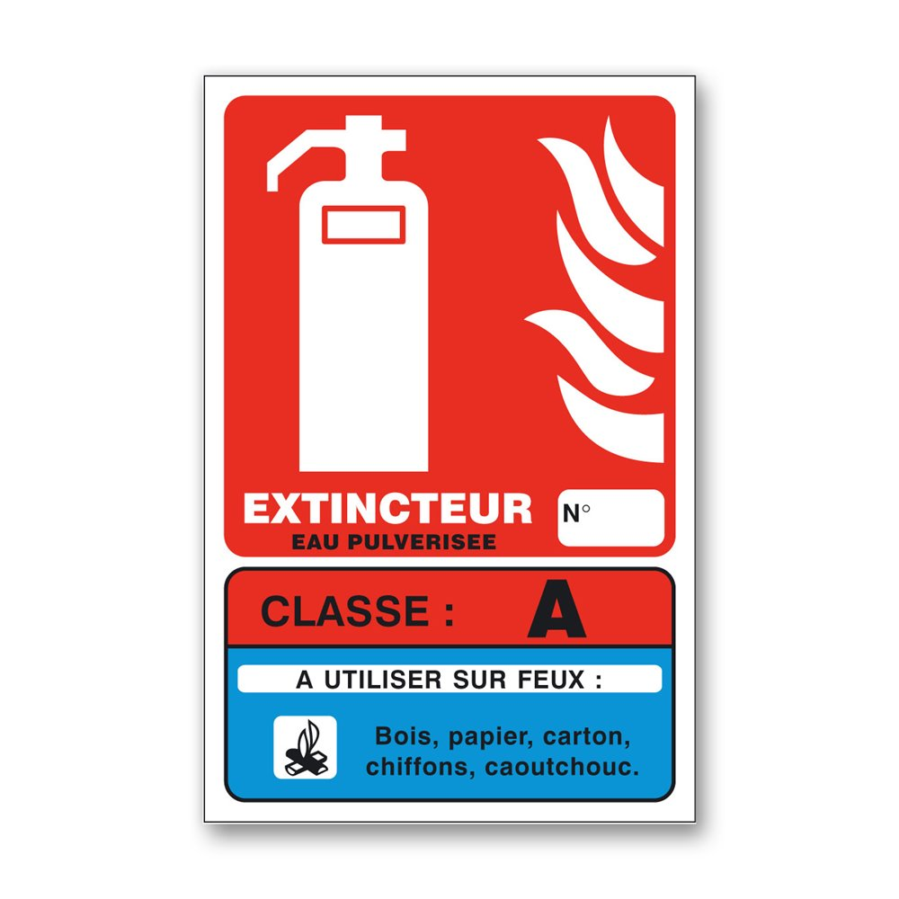 Panneau lutte incendie classe feu A