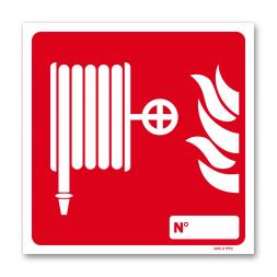 Panneau lutte incendie picto tuyau RIA