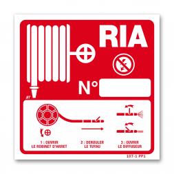 Panneau lutte incendie RIA mode d'emploi