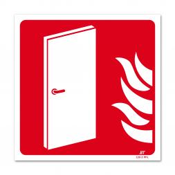 Panneau lutte incendie picto porte coupe feu flamme