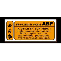 Panneau lutte incendie classe feu ABF CO2