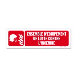 """Panneau avertissement picto """"équipement incendie"""""""