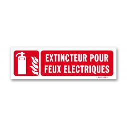 """Panneau lutte incendie """"extincteur feux électriques"""""""