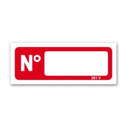 """Panneau lutte incendie étiquette adhésive """"n°"""""""