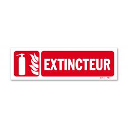 """Panneau lutte incendie picto extincteur flamme + """"extincteur"""""""