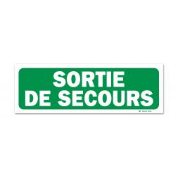 """Panneau évacuation """"sortie de secours"""""""
