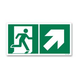 Panneau évacuation picto escalier droite montée