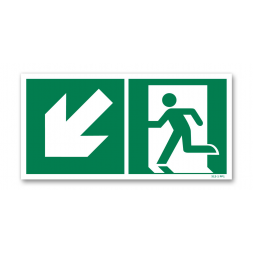 Panneau évacuation picto escalier gauche descente