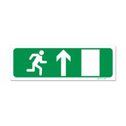 Panneau évacuation picto porte droite montée