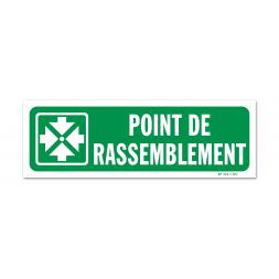 """Panneau évacuation picto """"point de rassemblement"""" horizontal"""