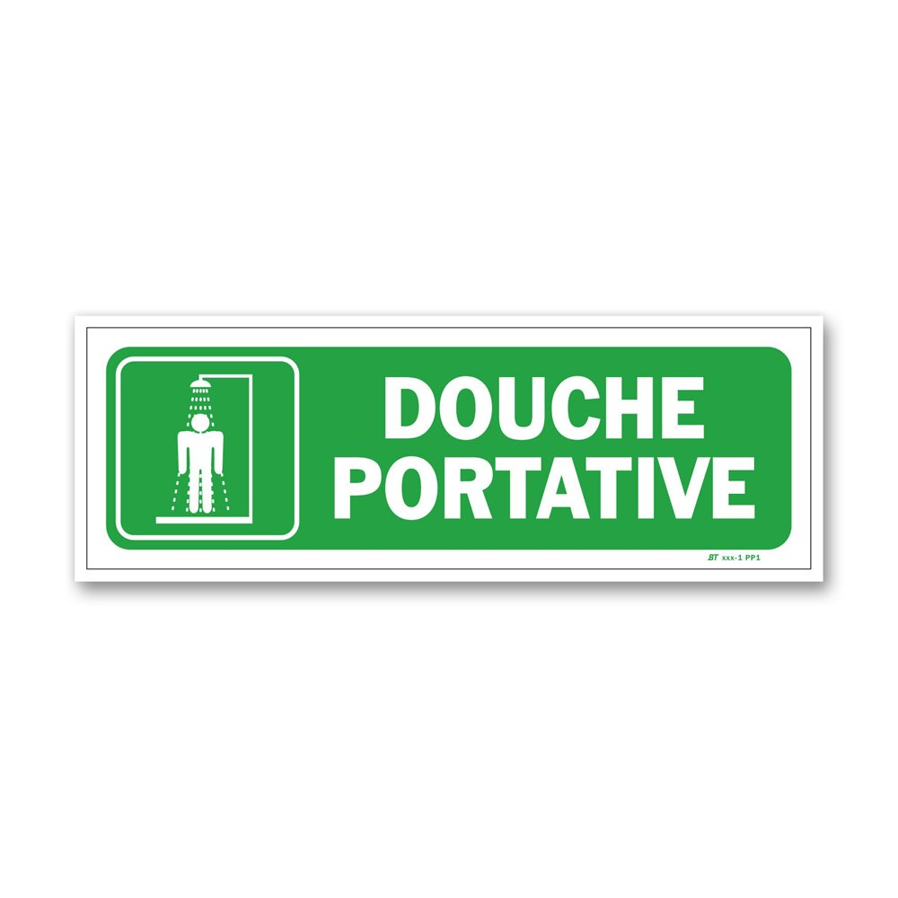 """Panneau évacuation """"douche portative"""""""