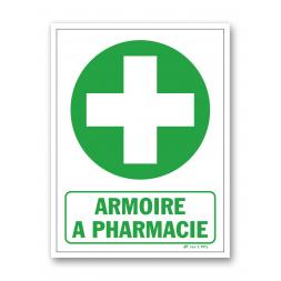 "Panneau évacuation ""armoire à pharmacie"""