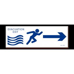 Panneau évacuation inondation exit gauche