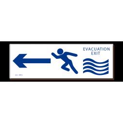 Panneau évacuation inondation exit droite