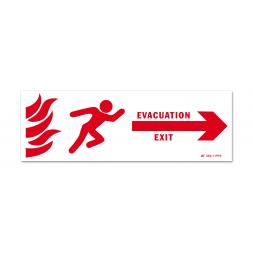 Panneau évacuation incenide exit gauche