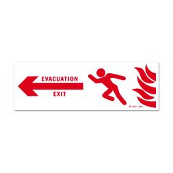 Panneau évacuation incendie exit droite