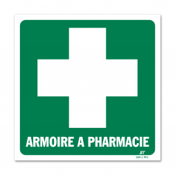 Panneau évacuation armoire à pharmacie