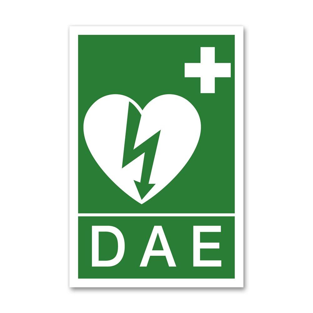 """Panneau évacuation picto défibrillateur """"DAE"""""""