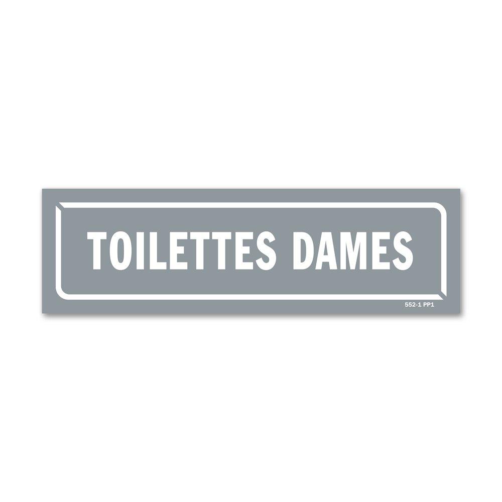 """Panneau identification locaux """"toilettes dames"""""""