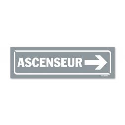 """Panneau identification locaux """"ascenseur flèche droite"""""""