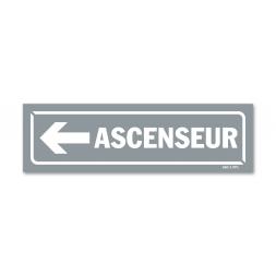 """Panneau identification locaux """"ascenseur flèche gauche"""""""