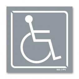 Panneau identification locaux picto handicapé