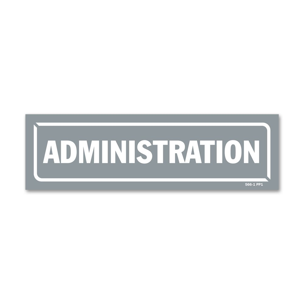 "Panneau identification locaux ""administration"""