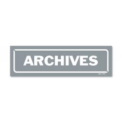 """Panneau identification locaux """"archives """""""