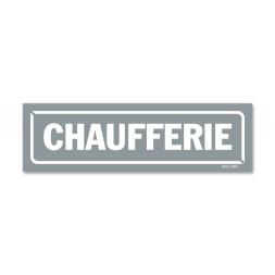 "Panneau identification locaux ""chaufferie"""
