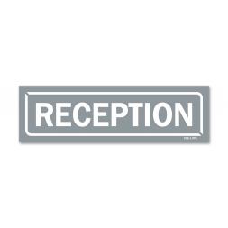 """Panneau identification locaux """"reception"""""""