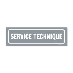 """Panneau identification locaux """"service technique"""""""