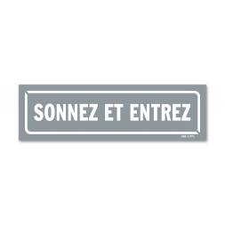 """Panneau identification locaux """"sonnez et entrez"""""""