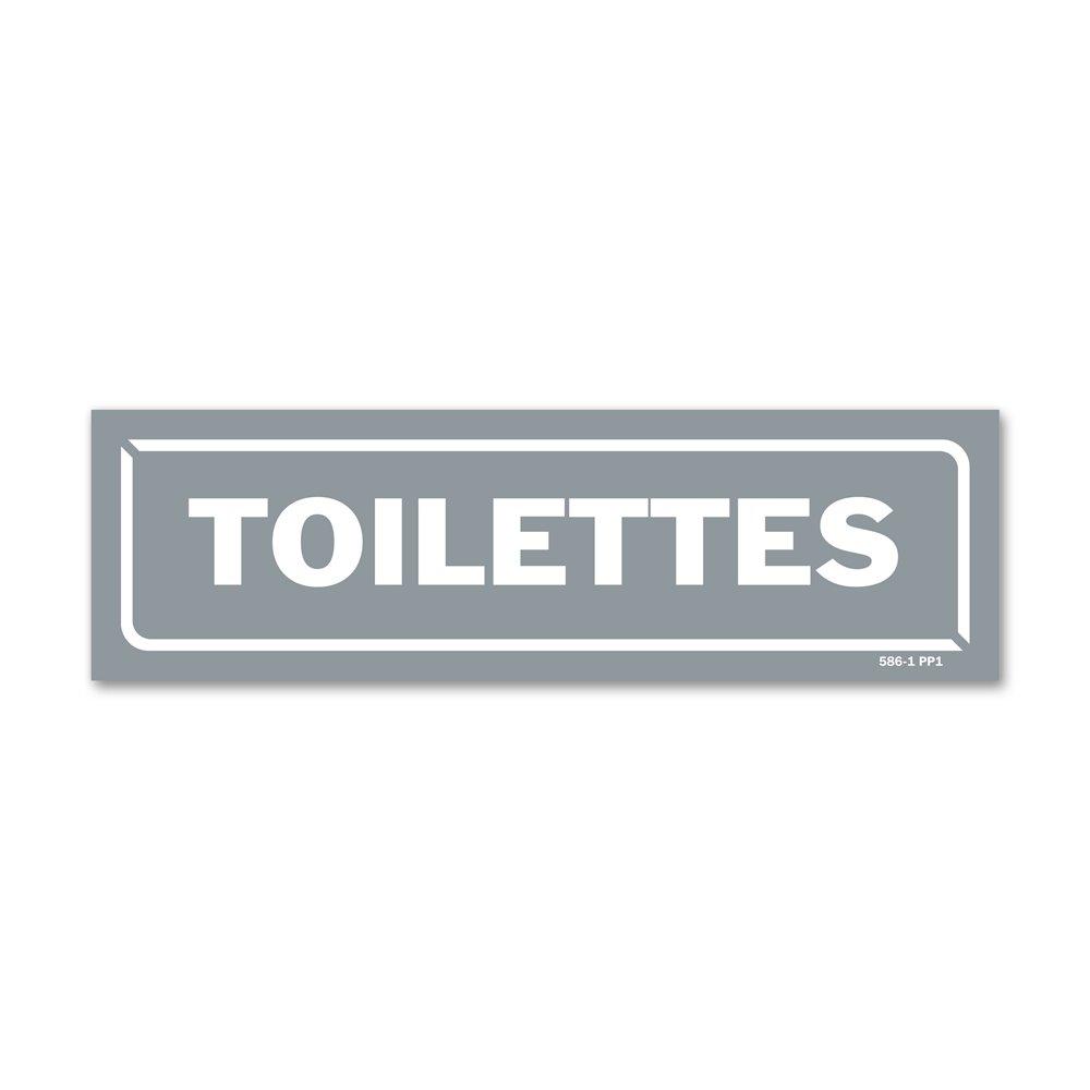 """Panneau identification locaux """"toilettes"""""""
