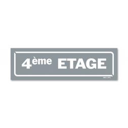 """Panneau identification locaux """"4ème etage"""""""