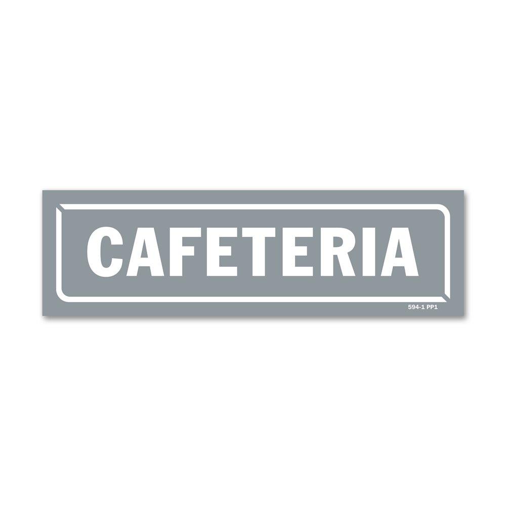 """Panneau identification locaux """"caféteria"""""""