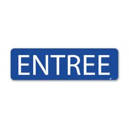 """Panneau signalisation """"entrée"""""""