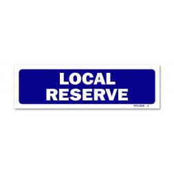 """Panneau signalisation """"local réservé"""""""