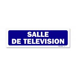 """Panneau signalisation """"salle de télévision"""""""