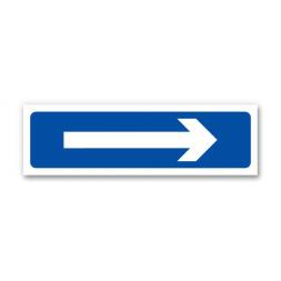 Panneau signalisation flèche fond bleu