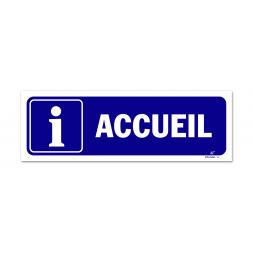 "Panneau signalisation picto information ""accueil"""