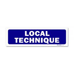 """Panneau signalisation """"local technique"""""""