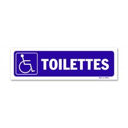 """Panneau signalisation picto handicapé """"toilettes"""""""