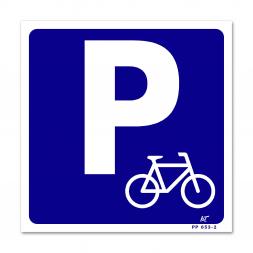 Panneau signalisation picto parking vélos
