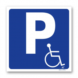 Panneau signalisation picto parking handicapés