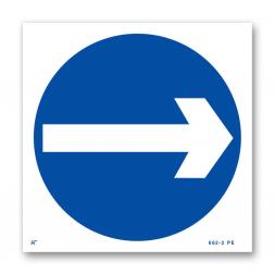 Panneau signalisation picto sens obligatoire