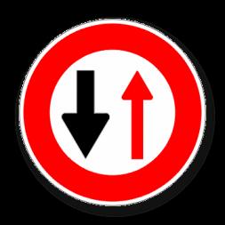 Panneau signalisation picto sens prioritaire