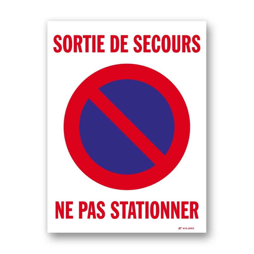"""Panneau signalisation picto """"ne pas stationner"""""""
