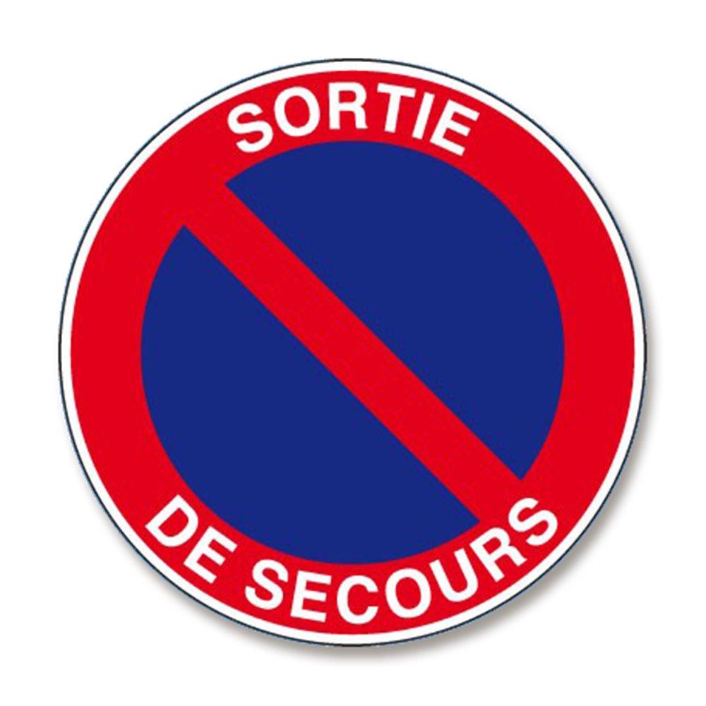 """Panneau signalisation picto stationnement genant """"sortie de secours"""""""
