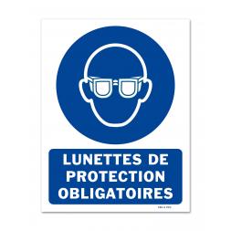 Panneau signalisation picto protection obligatoire vue
